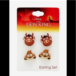 "The Lion King ""Timon & Pumbaa"" Earring Stud Set"
